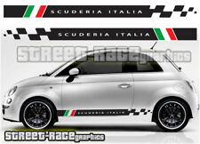 Fiat 500 side racing stripes 018 Scuderia Italia decals vinyl graphics stickers