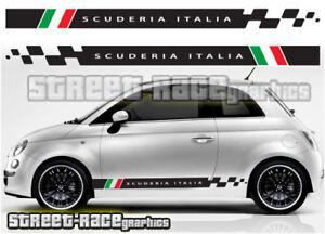 Fiat 500 side racing stripes 018 Scuderia Italia decals vinyl graphics stickers