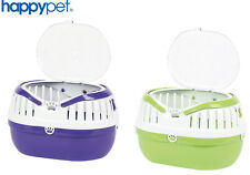 More details for happypet small animal plastic carrier pet travel cage hamster gerbil vet trip
