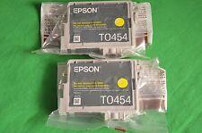 Epson 2 off T0454 d'encre jaune C64 véritable C66 C84 C86 CX3600 CX3650 CX6400 CX6600