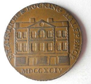 1794 GREAT BRITAIN 1/2 PENNY - AU - Rare Coin - BIG VALUE - Lot #S23