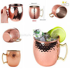 Stainless Steel Cocktail Wine Milk Coffee Cup Mug Bar Home Party 600ml Rose Gold