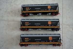 Kato Hopper Kansas City Southern Lines KCS N Scale Hopper 3 Car Set lot