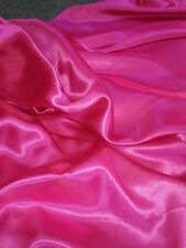 """1 MTRS  HOT PINK  SILKY SATIN.....45"""" WIDE"""