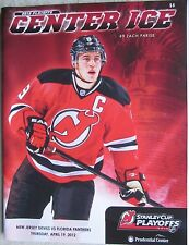 Zach Parise on Cover of New Jersey Devils Game Program Vrs Panthers 4/19/12