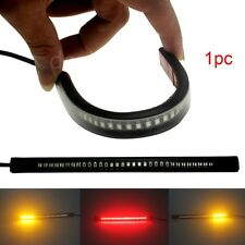 Flexible 48LED Motorcycle Light Strip Rear Tail Brake Stop Turn Signal Lamp Bar