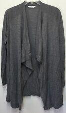 VINCE 'Superwash' Women's Heather Gray Drape Front Cardigan Sweater Sz L $275 B5