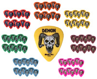 Guitar Picks 12 Bloode-Axe DEMON Red Orange Yellow Green Blue Purple White Neon