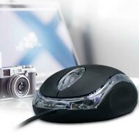 Wired USB Optical Mouse 1000DPI For Pc Laptop Computer 3 Scroll Wheel