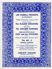 IGGY & THE STOOGES Golden Earring MC5 Original 1970 Concert Handbill Flyer