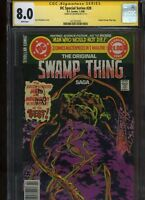 DC Special Series #20 CGC 8.0 SS Len Wein SWAMP THING Bernie Wrightson 1980