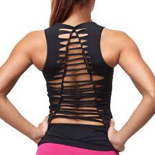 Women Bodybuilding Gym Training Tank Tops Yoga Fit Workout Jogging Blouse Vest