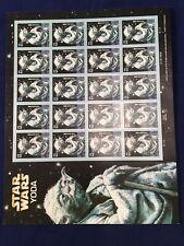 Postage Self Adhesive Stamps 41c Sheet of 20 Star Wars Yoda 2007