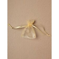 NEW 12 Light Gold drawstring favour bags wedding party confectionary 7x5cm