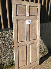 "AWESOME Original Antique - Reclaimed Vintage 6 Panel Door (6'1"" x 2'7"") - Ref 12"