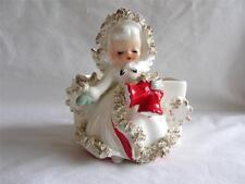 Vintage Christmas Holt Howard Ermine Angel Snowflake Planter IOB Japan 1950's #2