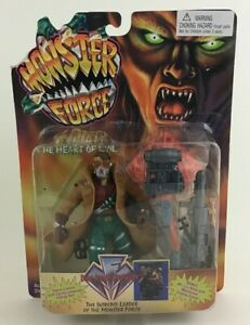 """Monster Force Doc Reed Crawley 5"""" Figure Canon Spring Powered Net Playmates 1994"""