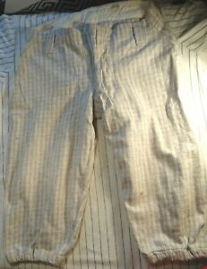 Vintage Spalding patch early 1900s plaid flannel wool baseball pants metal clasp