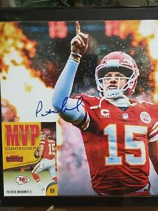 MVP Patrick Mahomes 8x10 Acrilic Framed Picture with MVP Football Card