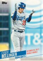 2018 Topps Baseball Cody Bellinger Highlights Inserts #CB-28 Los Angeles Dodgers