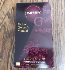 Kirby Video Owner's Manual VHS VCR Video Tape Movie, G5 Vacuum Cleaner