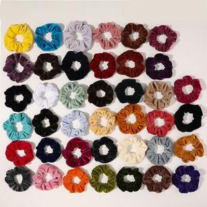 Women Candy Color Elastic Scrunchies Hair Rubber Bands Velvet Hair Rope Rings