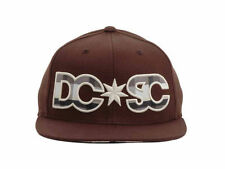 DC SHOES new BROWN STARS BORN 210 FITTED S/M FLEX FIT HAT CAP $35