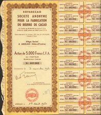 SOFABECAO, Fabrication de Beurre de Cacao (ABIDJAN COTE d'IVOIRE) (K)
