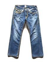 Men's True Religion Slight distressed Jeans Sz 32 x 30 Pre owned