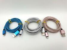 Câble Lightning vers USB 2M ou 3M - 3 Couleurs aux Choix - pour iPhone iPad iPod