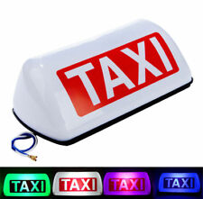 "12V Taxi Cab Sign Roof Top Topper Car Super Bright Light Lamp 11"" White 5 LED"