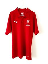 Arsenal Polo Shirt. Large. Puma. Red Adults Short Sleeves Football Top Only L.