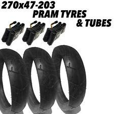 3x Qualité Landau Pneus + Tubes 270x47-203 270 x 47 - 203 Poussette Inclus Jane