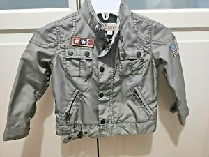 Brums Boy Jacket Wind Rain Coat Age 2-3 Dress Fit Lined 100% Cotton Pilot Style