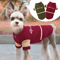 Reversible Dog Fleece Jacket Winter Warm Pet Cat Puppy Coat Clothes Jack Russell