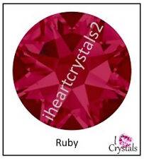 RUBY Pink Swarovski 7ss 2mm Crystal Flatback Rhinestones 2058 Xilion 144 pc July