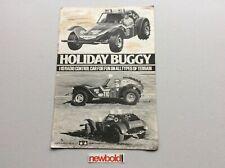 Vintage Tamiya Holiday Buggy Instruction Manual, Rare, Used.