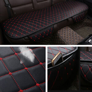 Black PU Leather Car Rear Bench Back Seat Cover Pad Mat Chair Protector Cushion