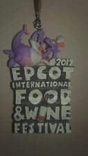 NEW Disney Parks 2017 Figment Epcot Food and Wine Festival Logo Ornament