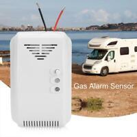 12V LED Detector Gas Propano Butano LPG Alarma Sensor Para Hogar Pantalla