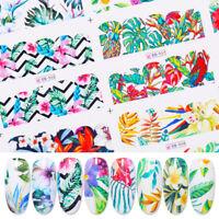 Nagel Wasser Transfer Nail Water Decals Flower Summer Series Nail Art Design