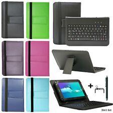 Tablet cubierta protectora funda + USB-teclado bolso alcatel 1t 10 tipo-C 10.1