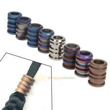 Titanium Alloy Beads For DIY Paracord Cord Bracelets Knife Flashlight Lanyard
