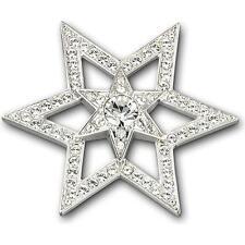 New! Beautiful Swarovski Rhodium-Plated Delicate Star Motif Pleasure Brooch
