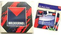 MELBOURNE DEMONS OFFICIAL AFL FOOTY SQUARE CANVAS WALL HANGING + PHOTO FRAME