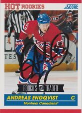 Andreas Engqvist Signed 2010-11 Score Rookie Traded Card #604 Montreal Canadiens
