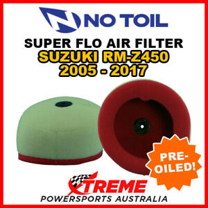 No Toil For Suzuki RMZ450 RM Z450 2005-2017 Super Flo Air Filter Element