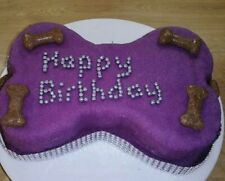Pretty Happy Birthday Any Name Dog Bone Cake For Girl By 'Doggylicious Cakes'