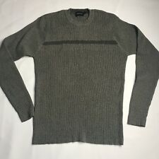 Claiborne Ribbed Crewneck Sweater Mens Size Small Green Casual