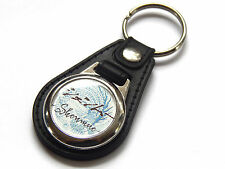 SHENMUE Classic Sega Dreamcast Video Game Premium Leather & Chrome Keyring